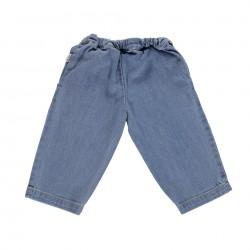 Pantalon Pomelos Denim Clair Poudre Organic