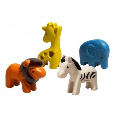 4 Animaux de la Savane Plan Toys PT6128