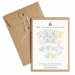 Cartes étapes souvenirs de grossesse Zü