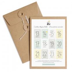 Cartes étapes souvenirs deuxième année Zü