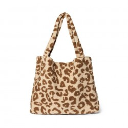 Sac Mom-Bag Teddy Leopard Ecru