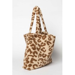 Sac Mom-Bag Teddy Leopard Ecru