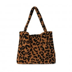 Sac Mom-Bag Teddy Leopard Brown