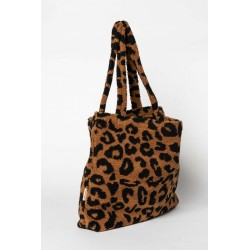 Sac Mom-Bag Teddy Leopard Brown
