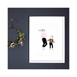 Affiche Danse Garçon A5 My Lovely Thing