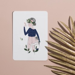 Carte Adelaïde Bleue My Lovely Thing