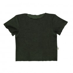 Tee-Shirt Bouleau Eponge Forest Green Poudre Organic