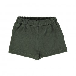 Short Oeillet Forest Green Poudre Organic