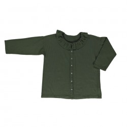 Blouse Aronie Forrest Green Poudre Organic