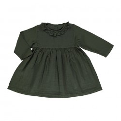Robe Campanule Forest Green Poudre Organic