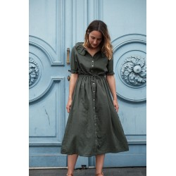 Robe Camarine Femme Forest Green Poudre Organic