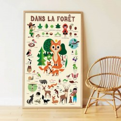 Poster Dans la Forêt Poppik