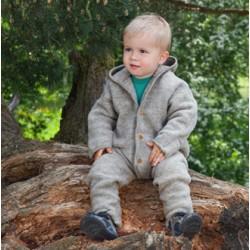 Veste en laine merinos gris clair Engel Natur