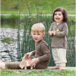 Tee-shirt laine et soie bébé noix Engel