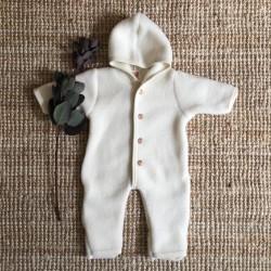 Combinaison en laine merinos écrue Engel Natur
