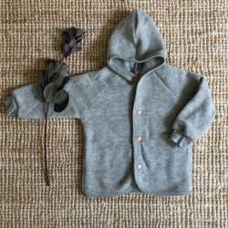 Blouson en laine merinos gris clair Engel Natur