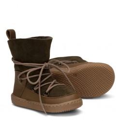 Boots fourrées Moon Kaki enfant