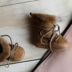 Boots fourrées Moon Pine Camel bébé
