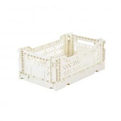 Caisse de rangement Ay-kasa Mini Blanc Coconut Milk