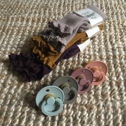 Chaussettes à dentelle Aubergine Collégien