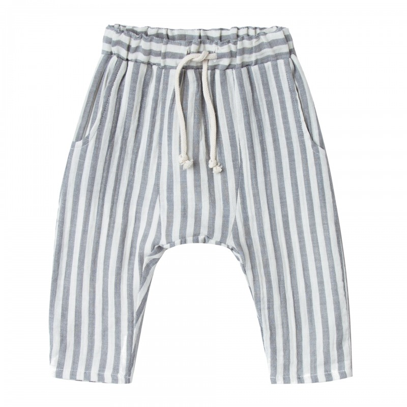 Pantalon à rayures bleues Rylee + Cru