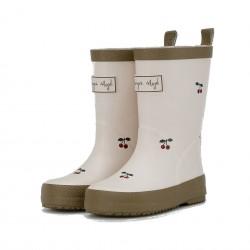 Bottes cerise Konges Sløjd Valken Rubber Boots Print
