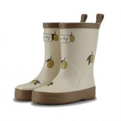 Bottes citron Konges Sløjd Valken Rubber Boots Print