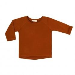 Tee-shirt Raglan Ocre foncé Phil & Phae