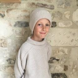 Bonnet écru en laine Phil & Phae