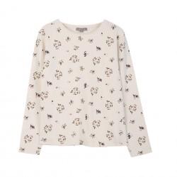 Tee-shirt écru floral Emile et Ida