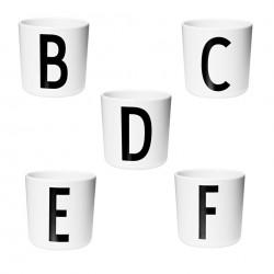 gobelet melamine design letters