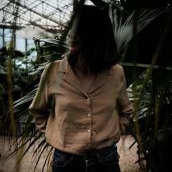 Chemisier Femme Datte Indian Tan Poudre Organic