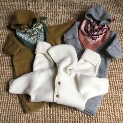 Combinaison en laine merinos gris clair Engel