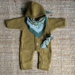 Combinaison en laine merinos Moutarde Engel Natur