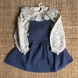 Robe tablier Mina Bleue Liilu