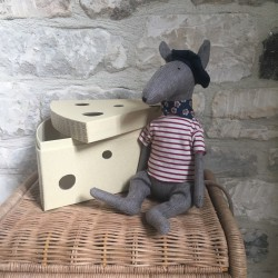 Rat et boîte à fromage Maileg