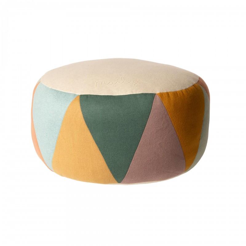 Grand pouf tambour multicolore Maileg