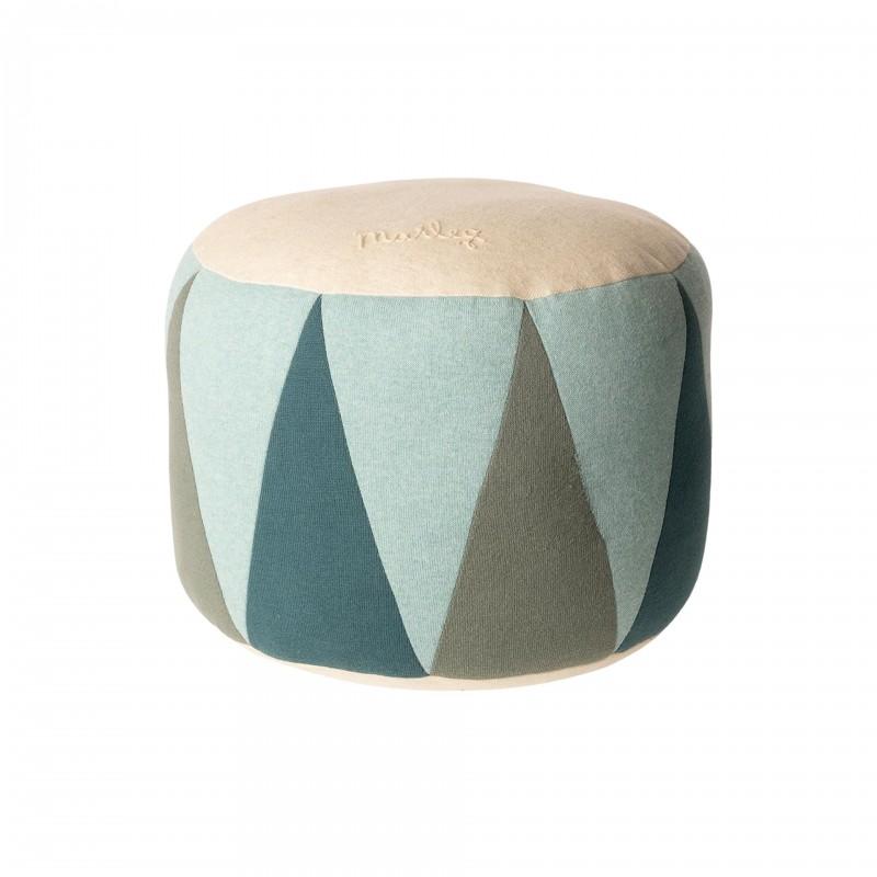 Moyen pouf tambour bleu mint Maileg