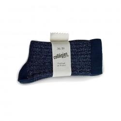 Chaussettes Femme Brillantes Bleues Collégien