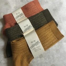 Chaussettes Femme Brillantes Pain d'épices Collégien