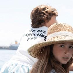 "Tee-shirt Blanc ""Come Aboard"" Piupiuchick"