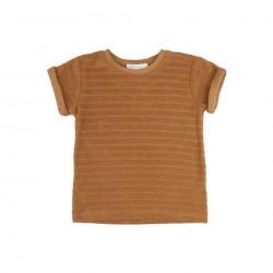 Tee-shirt en éponge rayé cuivre Phil & Phae