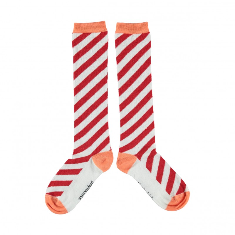 Chaussettes rayées rouges Piupiuchick