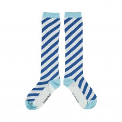 Chaussettes rayées bleues Piupiuchick