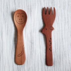 cuillère singe fourchette renne tougei
