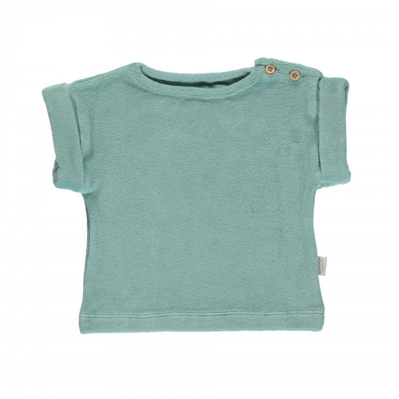 Tee-shirt Eponge Laurier Blue Surf Poudre Organic