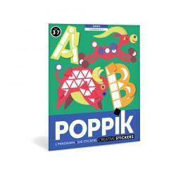 Poster Lettres 520 gommettes Poppik