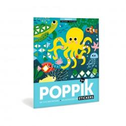 Poster Aquarium 750 gommettes Poppik