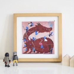 3 Puzzles Stickers Dragon & Chevaliers Poppik