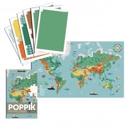 Poster Carte du Monde Poppik